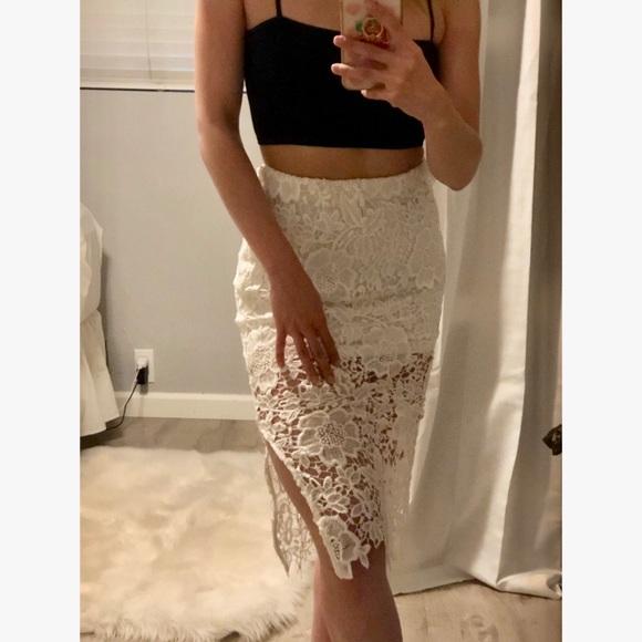 wyldr Dresses & Skirts - WYLDR deal breaker white lace midi skirt small